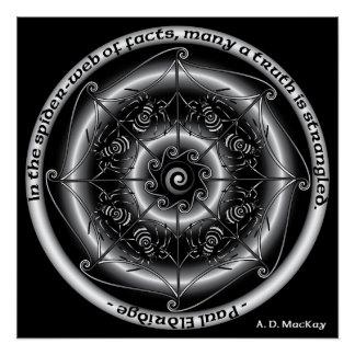 Celtic Spider Mandala Perfect Poster