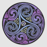Celtic Spiral #1 Round Sticker