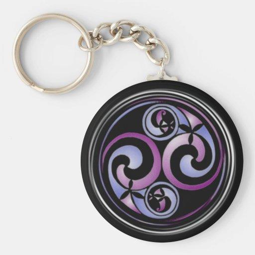 Celtic Spiral #2 Basic Round Button Keychain