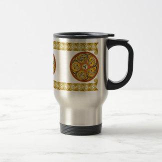 Celtic Spiral Art Mugs, Lughnasadh Design #2 Travel Mug