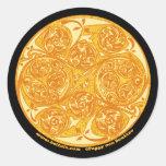 Celtic Spiral Art Sticker, Mandala Design #3