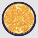 Celtic Spiral Art Stickers, Mandala Design #2