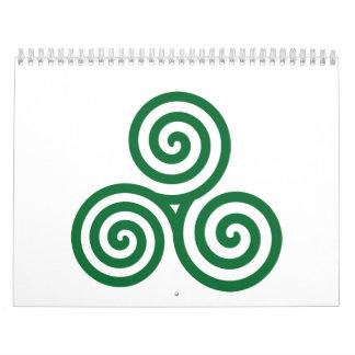 Celtic spiral wall calendars