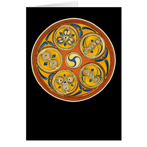 Celtic Spiral Card, Lughnasadh Design