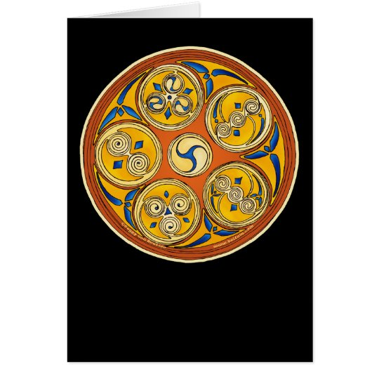 Celtic Spiral Card, Lughnasadh Design Card