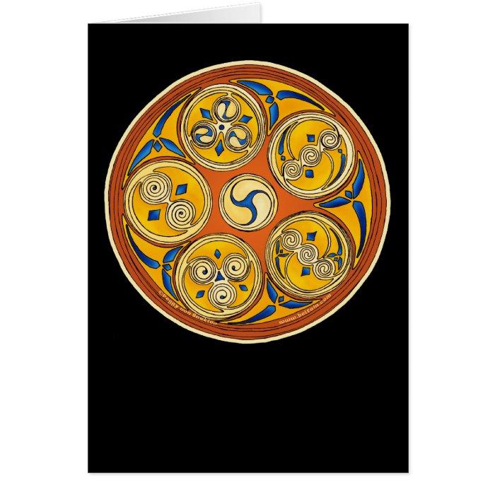 Celtic Spiral Card, Lughnasadh Design Card