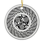 Celtic spiral ceramic ornament