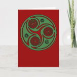 Celtic Spiral Christmas Card