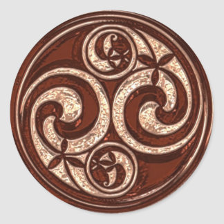 Celtic Spiral design #2v2 Classic Round Sticker