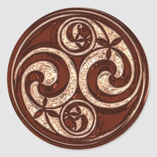 Celtic Spiral design #2v2 Classic Round Sticker