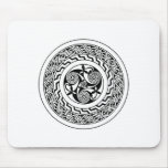 Celtic spiral mouse pad