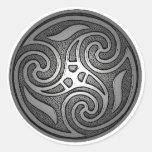 Celtic Spiral Round Stickers