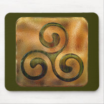 celtic spirals mouse pad