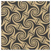 Celtic spirals pattern fabric design