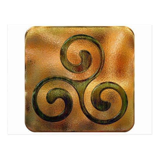 celtic spirals postcard