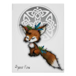 Celtic Spirit Fox Poster