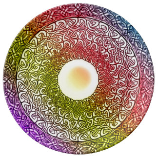 Celtic Spirit Healing Mandala Dinner Plate