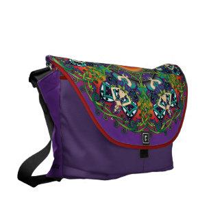 Celtic Spring Fairy Mandala Courier Bag