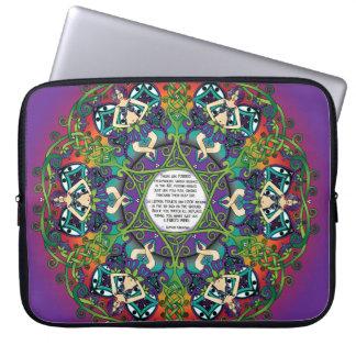 Celtic Spring Fairy Mandala Laptop Sleeves