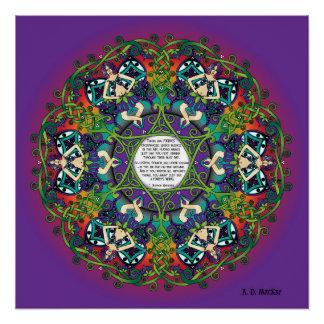 Celtic Spring Fairy Mandala Perfect Poster