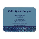 Celtic Sqaure Knot Boarder Blue on Blue Magnet