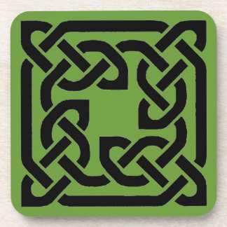 celtic square knot design beverage coaster