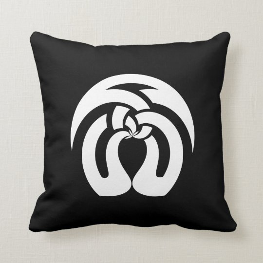 Celtic Square Knot, Kissing Trees Pattern Throw Pillow