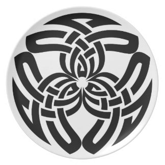 Celtic Square Knot, Triple Dinner Plate
