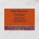 Celtic Square Knots on Paprika Business Card