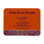 Celtic Square Knots on Paprika Magnet