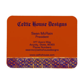 Celtic Square Knots on Paprika Magnet