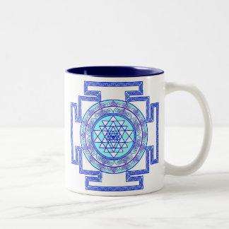 celtic sri yantra Two-Tone coffee mug