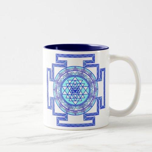 celtic sri yantra Two_Tone coffee mug