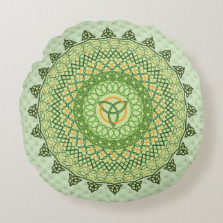 Celtic St. Patty's Day Round Pillow