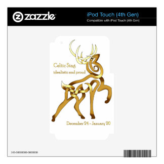 Celtic Stag Decals For iPod Touch 4G