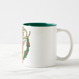 Celtic Stag Two-Tone Coffee Mug