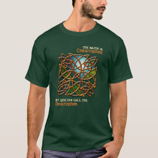 Celtic Stained Glass 2 (Personalized) T-Shirt