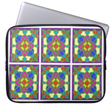 cloudsendgallery Celtic Stained Glass Effect Computer Sleeve