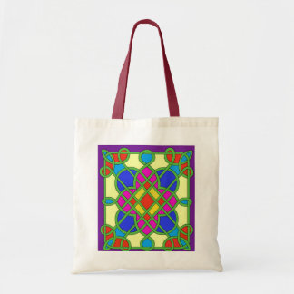 Celtic Stained Glass Effect Tote Bag