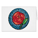 Celtic Stained Glass Rose Card