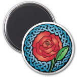 Celtic Stained Glass Rose Magnet