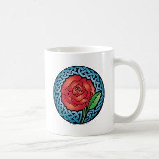 Celtic Stained Glass Rose Mug