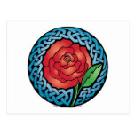 Celtic Stained Glass Rose Postcard