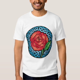 Celtic Stained Glass Rose Shirt