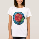 Celtic Stained Glass Rose T-Shirt