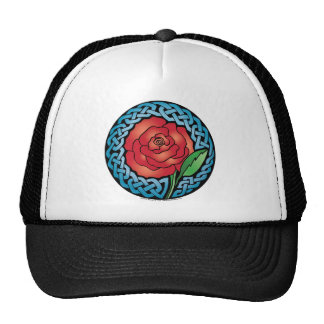 Celtic Stained Glass Rose Trucker Hats