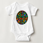 Celtic Stained Glass Spiral Baby Bodysuit