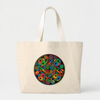Celtic Stained Glass Spiral Canvas Bag
