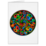Celtic Stained Glass Spiral Card