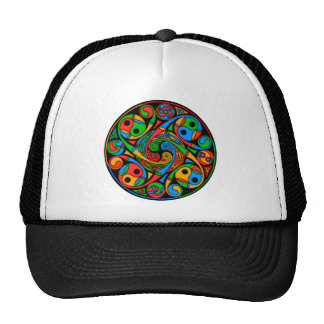 Celtic Stained Glass Spiral Mesh Hats
